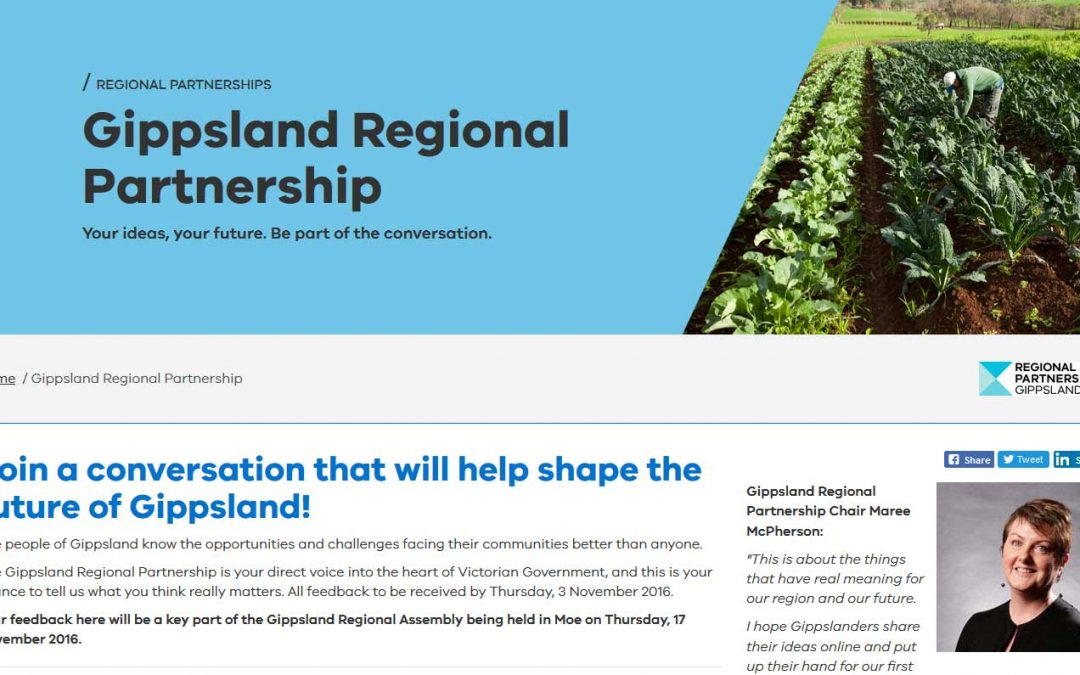 Shape the Future of Gippsland